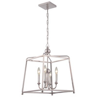 Crystorama 2245-PN_NOSHADE Sylvan 4 Light 16 inch Polished Nickel Chandelier Ceiling Light in Polished Nickel (PN), No Shade