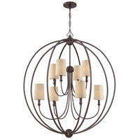 Crystorama 2246-DB Sylvan 8 Light 40 inch Dark Bronze Chandelier Ceiling Light