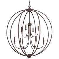 Crystorama 2246-DB_NOSHADE Sylvan 8 Light 40 inch Dark Bronze Chandelier Ceiling Light in No Shade