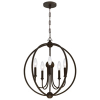 Crystorama 2247-DB_NOSHADE Sylvan 5 Light 23 inch Dark Bronze Chandelier Ceiling Light in Dark Bronze (DB)
