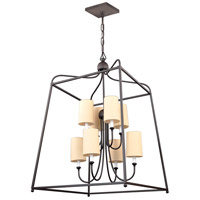 Crystorama 2248-DB Sylvan 8 Light 28 inch Dark Bronze Chandelier Ceiling Light in Dark Bronze (DB), Flax Linen