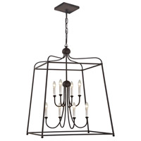Crystorama 2248-DB_NOSHADE Sylvan 8 Light 28 inch Dark Bronze Chandelier Ceiling Light in Dark Bronze (DB), No Shade