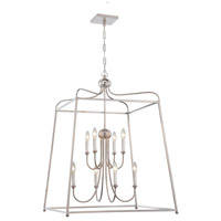 Crystorama 2248-PN_NOSHADE Sylvan 8 Light 28 inch Polished Nickel Chandelier Ceiling Light in Polished Nickel (PN) No Shade