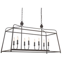 Sylvan 8 Light 18 inch Dark Bronze Chandelier Ceiling Light in Dark Bronze (DB), No Shade