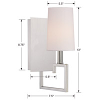 Crystorama 2251-PN Westwood 1 Light 6 inch Polished Nickel Wall Sconce Wall Light alternative photo thumbnail