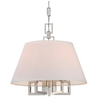 Crystorama 2255-PN Westwood 5 Light 16 inch Polished Nickel Mini Chandelier Ceiling Light