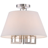Crystorama 2255-PN_CEILING Westwood 5 Light 16 inch Polished Nickel Semi Flush Mount Ceiling Light