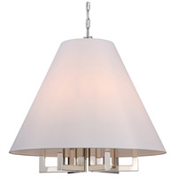 Crystorama Libby Langdon Westwood 6 Light Chandelier in Polished Nickel 2259-PN