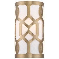 Crystorama Jennings 1 Light Wall Sconce in Aged Brass 2262-AG
