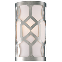 Crystorama Libby Langdon Jennings 1 Light Wall Sconce in Polished Nickel 2262-PN