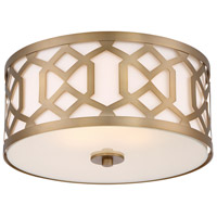 Crystorama Jennings 3 Light Semi Flush Mount in Aged Brass 2263-AG