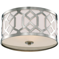 Jennings 3 Light 16 inch Polished Nickel Semi Flush Mount Ceiling Light in Polished Nickel (PN)