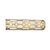 Jennings 4 Light 24 inch Aged Brass Vanity Light Wall Light in Aged Brass (AG)