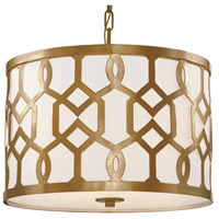 Crystorama Libby Langdon Jennings 3 Light Semi-Flush Mount in Aged Brass 2265-AG