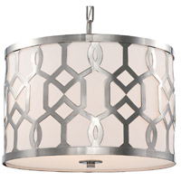 Crystorama 2265-PN Jennings 3 Light 18 inch Polished Nickel Chandelier Ceiling Light in Polished Nickel (PN)