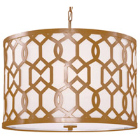 Crystorama Libby Langdon Jennings 5 Light Semi-Flush Mount in Aged Brass 2266-AG