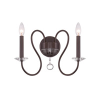 Crystorama 2272-VZ Bentley 2 Light 16 inch Vibrant Bronze Wall Sconce Wall Light