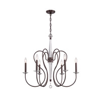 Crystorama Bentley 6 Light Chandelier in Vibrant Bronze 2276-VZ