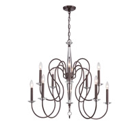 Crystorama Bentley 10 Light Chandelier in Vibrant Bronze 2279-VZ