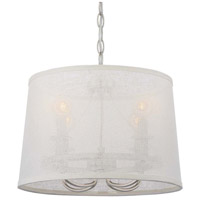 Crystorama Libby Langdon Culver 4 Light Chandelier in Polished Nickel 2294-PN
