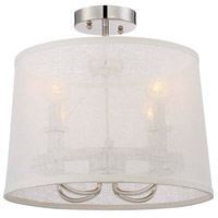 Crystorama Libby Langdon Culver 4 Light Chandelier in Polished Nickel 2294-PN_CEILING