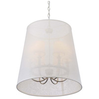Crystorama 2296-PN Culver 6 Light 22 inch Polished Nickel Chandelier Ceiling Light