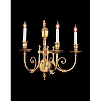 Crystorama Savannah 3 Light Wall Sconce in Polished Brass 2303-PB