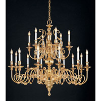 Crystorama Essex House 21 Light Chandelier in Polished Brass 2320-PB