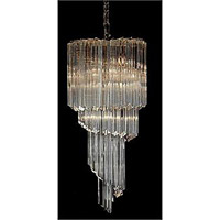 Signature 6 Light 12 inch Polished Brass Chandelier Ceiling Light