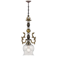 Crystorama Kendall 1 Light Pendant in Fiesta 250-FA