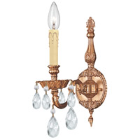 Crystorama Novella 1 Light Wall Sconce in Olde Brass 2501-OB-CL-SAQ