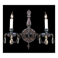Crystorama Novella 2 Light Wall Sconce in Bronze Patina 2502-BP-CL-MWP