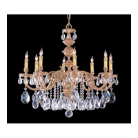 Crystorama Oxford 8 Light Chandelier in Olde Brass 2508-OB-CL-S