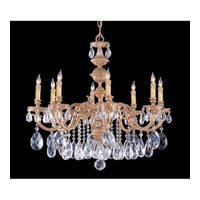 Crystorama Oxford 8 Light Chandelier in Olde Brass with Swarovski Spectra Crystals 2508-OB-CL-SAQ