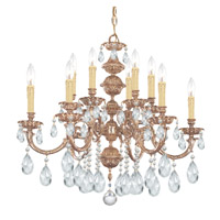 Crystorama Oxford 12 Light Chandelier in Olde Brass, Clear Crystal, Swarovski Spectra 2512-OB-CL-SAQ