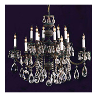 Crystorama Novella 12 Light Chandelier in Bronze Patina 2512-SAQ-BP