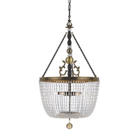Crystorama Kendall 6 Light Pendant in Fiesta 257-FA