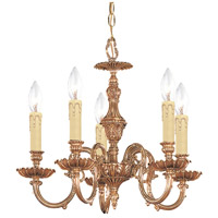 Crystorama Novella 5 Light Mini Chandelier in Olde Brass 2605-OB