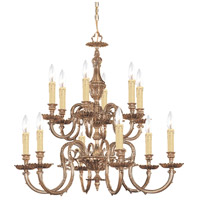 Crystorama 2612-OB Novella 12 Light 26 inch Olde Brass Chandelier Ceiling Light in Olde Brass (OB)