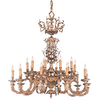 Crystorama Kensington 20 Light Chandelier in Olde Brass 2615-OB