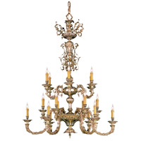 Crystorama Palmer 18 Light Chandelier in Olde Brass 2618-OB
