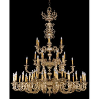 Crystorama 2619-OB Novella 55 Light 62 inch Olde Brass Chandelier Ceiling Light in Olde Brass (OB)