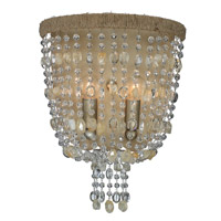 Crystorama Eva 2 Light Wall Sconce in Burnished Silver 262-BS