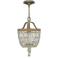 Crystorama Eva 1 Light Chandelier in Burnished Silver 263-BS