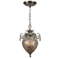Crystorama Avery 2 Light Pendant in Antique Brass, Cognac, Hand Cut 265-AB-CG-MWP photo thumbnail