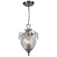 Crystorama Signature 2 Light Pendant in Polished Chrome, Clear Crystal, Hand Cut 265-CH-CL-MWP