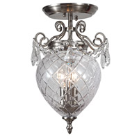 Crystorama Avery 2 Light Semi-Flush Mount in Polished Chrome 265-CH-CL-MWP_CEILING