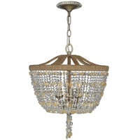 Crystorama Eva 3 Light Chandelier in Burnished Silver 267-BS