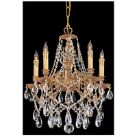 Crystorama 2705-OB-CL-SAQ Novella 5 Light 18 inch Olde Brass Mini Chandelier Ceiling Light