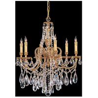 Crystorama 2706-OB-CL-MWP Novella 6 Light 25 inch Olde Brass Chandelier Ceiling Light in Hand Cut